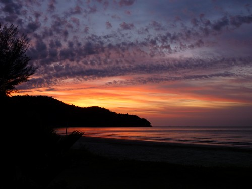 Karambunai beach sunset