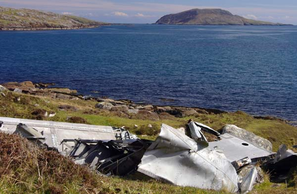 Vatersay crashed plane