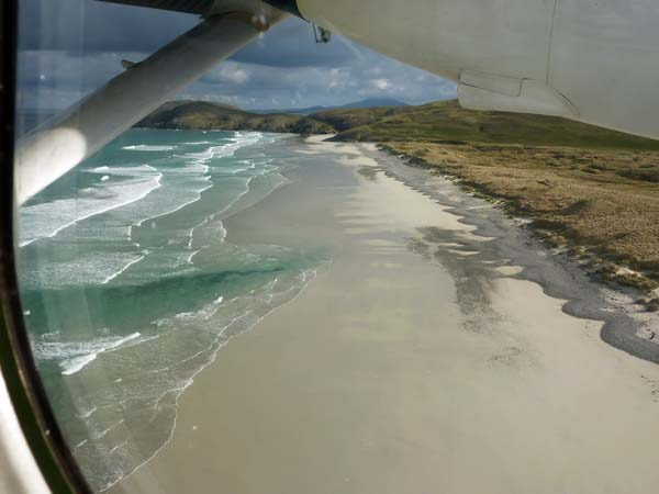 Flight to Barra - airport approach