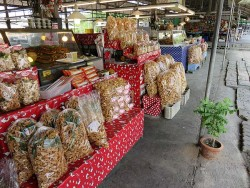 Thai Market - pork scratchings, I recognise these