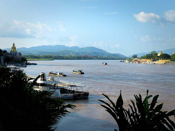 Golden Triangle: Myanmar on the left, Laos on the right